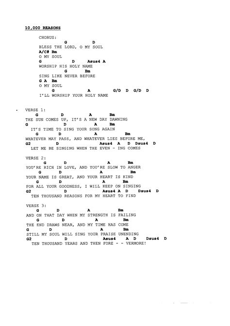 Famous 10000 Reasons Guitar Chords Motif Song Chords Images Apa